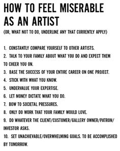 Compare only to your own art, and see how far you've come. #artistlife