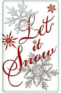 Let It Snow Snowflakes 100% Cotton Flour Sack Dish Towel Tea Towel