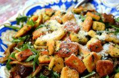 "Garlic ""Gnocchi"" | The Primitive Palate | http://theprimitivepalate.com/2015/01/25/keto-garlic-gnocchi/"