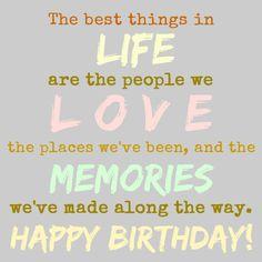 Verjaardagskaart met een mooie levensspreuk.