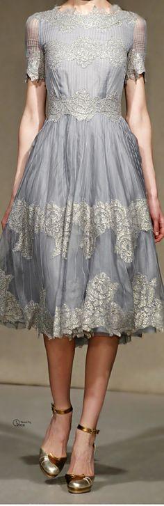 Luisa Beccaria ● Fall 2014 -- beautiful dress; would make a lovely tea length wedding dress