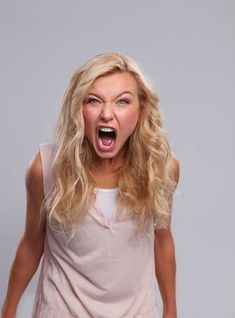 Picture of Young angry woman screaming. stock photo, images and stock photography. Expressions Photography, Face Photography, Photography Women, Screaming Girl, Facial Expressions Drawing, Angry Expression, Angry Girl, Angry Women, Angry Face