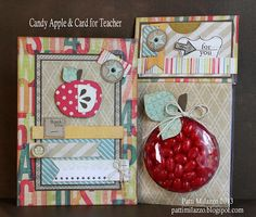 Candy Apple & Card -- gives ideas if you can't find clear round container