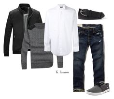 """""""Outfit15"""" by keeshafrancois on Polyvore featuring Abercrombie & Fitch, Lardini, DC Shoes, men's fashion and menswear"""