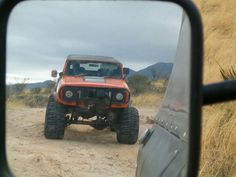 Objects in mirror may be International Scouts. I usually have jeeps in my rearview, they cant keep up