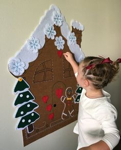 Gingerbread house activity - keep them busy while you're in the kitchen