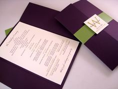 Plum and gray wedding with a hint of green. My colors!
