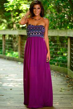 Purple Aztec Maxi Dress