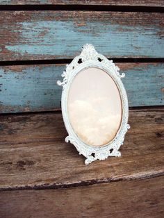 Vintage Shabby Chic Italian Picture Frame by primitivepincushion