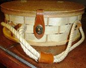 vintage bags  ...  WOOD and WICKER Retro fun by LandLockedCottage, $25.00