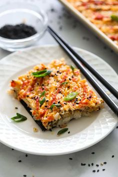 This Easy Sushi Bake is made with creamy crab filling, spicy mayo, and tangy sweet rice. You'll love how easy and delicious it is. #sushibake #easysushibake #bakedsushi #easysushibakerecipe Spicy Crab Sushi Recipe, Sushi Recipes, Sushi Bake, Healthy Fish Tacos, College Meals, College Recipes, How To Make Sushi, Homemade Sushi, Soften Cream Cheese