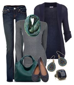 Casual Weekend Blues and Greens by smores1165 on Polyvore featuring polyvore, fashion, style, WalG, American Vintage, True Religion, Accessorize and Mossimo Supply Co.