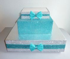 Hey, I found this really awesome Etsy listing at https://www.etsy.com/listing/189750444/aqua-teal-rhinestone-bling-wedding-cake
