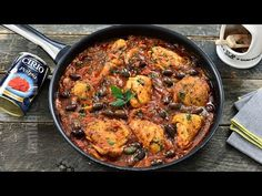 Pui cacciatore / Pui in stil vanatoresc - reteta video Easy Chicken Parmesan, Chicken Cacciatore, Paella, Food To Make, Curry, Yummy Food, Cooking, Ethnic Recipes, Kitchens