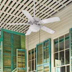 Install a ceiling fan to cool your porch and keep bugs at bay | Photo: Jean Allsopp | thisoldhouse.com