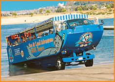 San Diego tour on land and sea! Take this boat on wheels to see beautiful San Diego. Departs from Seaport Village, just down the way from the hotel: San Diego Marriott Marquis & Marina. #sandiego #vacation