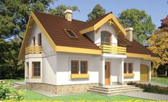 Case mici cu lucarne