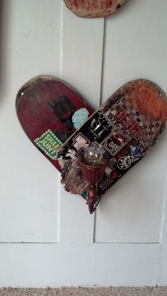Heart Skateboard Art Wall Lamp $60