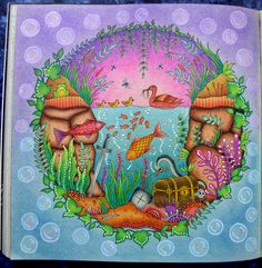 Underwater Page From Enchanted Forest Prismacolor Pencils And Some