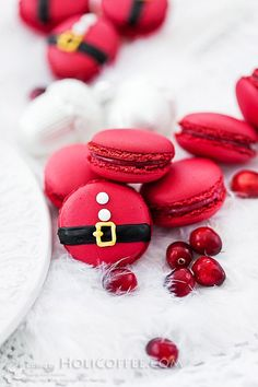 Christmas Cranberry Macarons – Best Healthy Fruit Dessert Skinny Recipe Ideas - HoliCoffee