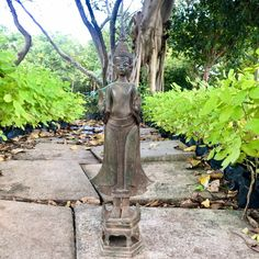 "Excited to share this item from my #etsy shop: 20"" Thailand Laos Buddha Statue Bronze Antique Caped Both Hands Up Unique Crown"