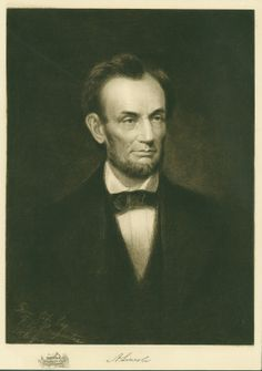 """On Nov 6, 1860, Abraham Lincoln was elected president. Francis Grierson, a young boy at the time, wrote, """"At last the day of election came the city woke in a sort of dream...there were rumours, impossible rumours, that the tall, gaunt Rail-Splitter from up there at Springfield, Illinois was elected."""" Lincoln bested Stephen Douglas in St. Louis by 9,946 to 700. ©Missouri History Museum"""