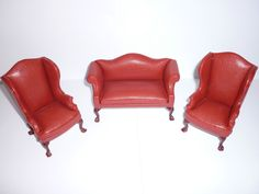 JIA YI DOLLS HOUSE RED LEATHER LIVING ROOM SUITE SUITE 12TH SCALE NEW | eBay