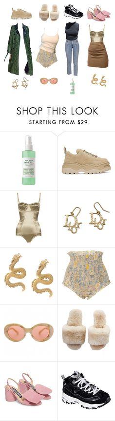 """how to style green"" by kayi-tesi ❤ liked on Polyvore featuring Mario Badescu Skin Care, Eytys, Dolce&Gabbana, Natia Khutsishvili, Khaite, Acne Studios, Jacquemus and Skechers"