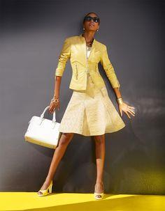 Lederjacke aus Lammnappa in der Farbe vanille - gelb - im MADELEINE Mode Onlineshop