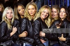 Victoria's Secret models Elsa Hosk, Jourdan Dunn, Karlie Kloss, Candice Swanepoel, Doutzen Kroes and Lily Aldridge attend the 2014 Victoria's Secret Fashion Show - Bond Street Media Event on December 1, 2014 in London, United Kingdom.