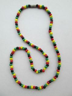 1 Halskette aus Brasilien Länge ca. 40 cm Ohr Hippie Goa Schmuck nr.5 Reggae