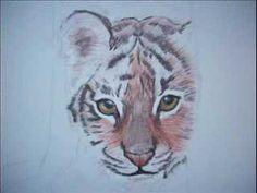 Stap voor stap tijgertje tekenen - YouTube