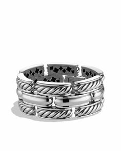 Cable Classics Three-Row Bracelet by David Yurman at Neiman Marcus.