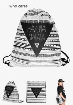Who Cares Fashion 3D Printing Backpack Women Aztec Hakuna Drawstring Bag  Matata Mochila Feminina Casual For Girl-in Backpacks from Luggage   Bags on  ... 45951c0ab1a18