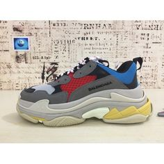 YYUND Balenciaga Triple S Trainer Black Red Scarpe da