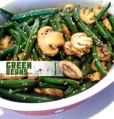 מתכונים קלים | אוכל טוב | אוכל טעים: שעועית ירוקה מוקפצת עם פטריות ושמשום
