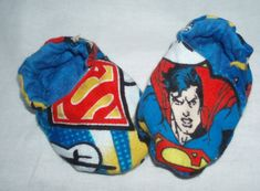 Baby Shoes Booties Boy  Superman by JaclynsDesigns on Etsy