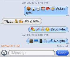 Hilarious Emoji Text Message