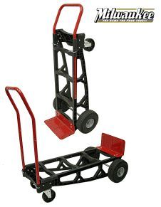 Milwaukee Light Weight Nylon/Poly Convertible Hand Truck - High quality hand trucks for the lowest price! Look no further top notch hand trucks. Welding Cart, Welding Table, Diy Garage, Garage Storage, Milwaukee Tools, Table Frame, Homemade Tools, Welding Projects, Tools And Equipment