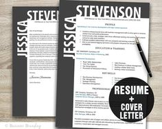 Resume Cover Letter Template  Resume Template  by BusinessBranding