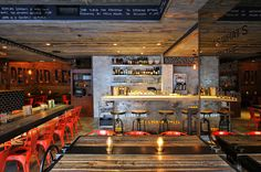 """Incredible Industrial Chic """"Craft & Commerce"""" Restaurant - Designed by Basile Studio, San Diego USA"""