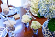 A Little Loveliness: A Beautiful Blue and White Tablescape