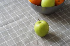 Linen Tablecloth. Dining tablecloth. Unbleached linen