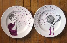 i wonder how to paint plates..