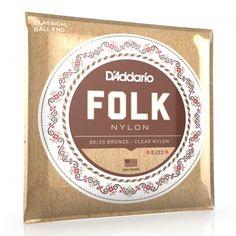D'addario EJ33 : cordes nylon à boule pour guitare folk et classique