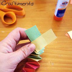 Glue ends together, leaving an overhang