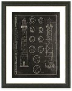 Framed Giclée Lighthouse Patent IV Art Print