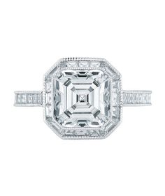 Engagement in the near or not-so-distant future? Here's hoping. From asscher to round, take a peek at the elegant options for rings.