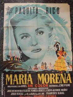 maria morena - CARTEL POSTER ORIGINAL ESTRENO - paquita rico forque lazaga cire films frexell ilustr - Foto 1