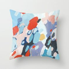 Bits And Pieces Throw Pillow by Emily Rickard - $20.00